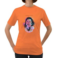 King Of Pop Womens' T Shirt (colored)