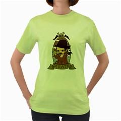 Pirate Womens  T-shirt (Green)