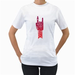Rock Et Womens  T Shirt (white)