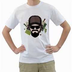 Tactical Beard Mens  T-shirt (White)