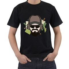 Tactical Beard Mens' Two Sided T-shirt (Black)