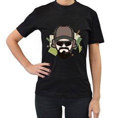 Tactical Beard Womens' Two Sided T-shirt (Black)