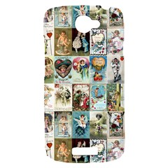Vintage Valentine Cards HTC One S Hardshell Case