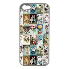 Vintage Valentine Cards Apple iPhone 5 Case (Silver)