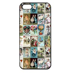Vintage Valentine Cards Apple iPhone 5 Seamless Case (Black)