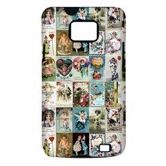 Vintage Valentine Cards Samsung Galaxy S II Hardshell Case (PC+Silicone)