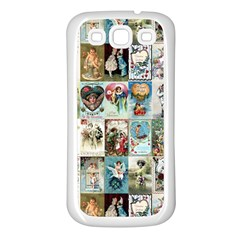 Vintage Valentine Cards Samsung Galaxy S3 Back Case (White)
