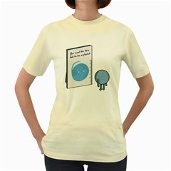 This Tall, Pluto  Womens  T Shirt (yellow)
