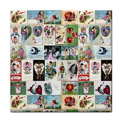 Vintage Valentine Cards Face Towel