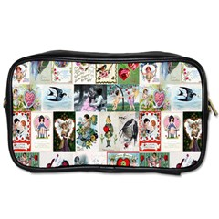 Vintage Valentine Cards Travel Toiletry Bag (Two Sides)