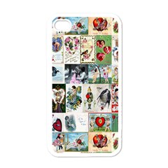 Vintage Valentine Cards Apple iPhone 4 Case (White)