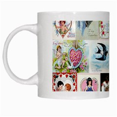 Vintage Valentine Cards White Coffee Mug