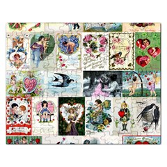 Vintage Valentine Cards Jigsaw Puzzle (Rectangle)