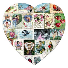 Vintage Valentine Cards Jigsaw Puzzle (Heart)