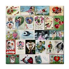 Vintage Valentine Cards Face Towel