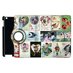 Vintage Valentine Cards Apple iPad 2 Flip 360 Case