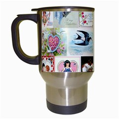 Vintage Valentine Cards Travel Mug (White)