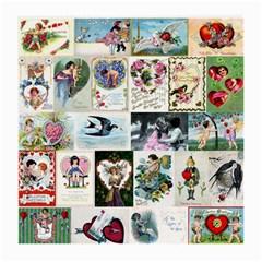 Vintage Valentine Cards Glasses Cloth (Medium)