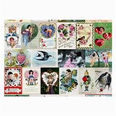 Vintage Valentine Cards Glasses Cloth (Large)