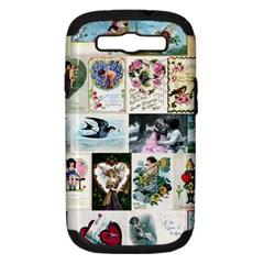 Vintage Valentine Cards Samsung Galaxy S III Hardshell Case (PC+Silicone)