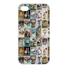 Vintage Valentine Cards Apple iPhone 4/4S Premium Hardshell Case