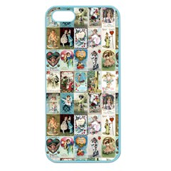 Vintage Valentine Cards Apple Seamless iPhone 5 Case (Color)