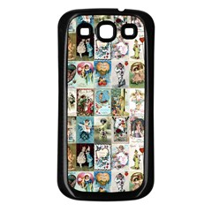 Vintage Valentine Cards Samsung Galaxy S3 Back Case (Black)