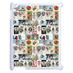 Vintage Valentine Cards Apple iPad 2 Case (White)