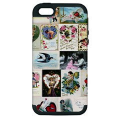 Vintage Valentine Cards Apple iPhone 5 Hardshell Case (PC+Silicone)