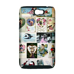 Vintage Valentine Cards Samsung Galaxy Note 2 Hardshell Case (PC+Silicone)