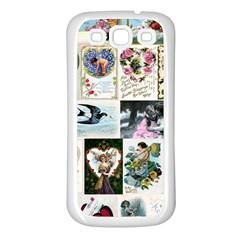 Vintage Valentine Cards Samsung Galaxy S3 Back Case (White)