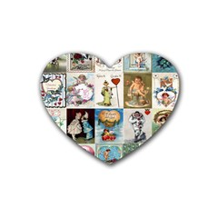 Vintage Valentine Cards Drink Coasters 4 Pack (Heart)