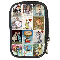 Vintage Valentine Cards Compact Camera Leather Case