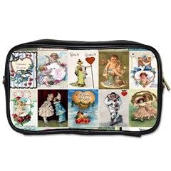 Vintage Valentine Cards Travel Toiletry Bag (One Side)