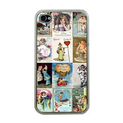 Vintage Valentine Cards Apple iPhone 4 Case (Clear)
