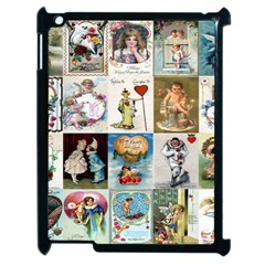 Vintage Valentine Cards Apple iPad 2 Case (Black)