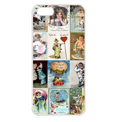 Vintage Valentine Cards Apple iPhone 5 Seamless Case (White)