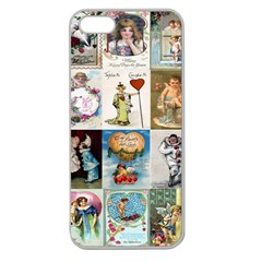 Vintage Valentine Cards Apple Seamless iPhone 5 Case (Clear)