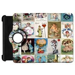 Vintage Valentine Cards Kindle Fire HD 7  Flip 360 Case
