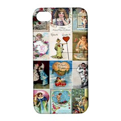 Vintage Valentine Cards Apple iPhone 4/4S Hardshell Case with Stand