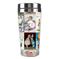Vintage Valentine Cards Stainless Steel Travel Tumbler