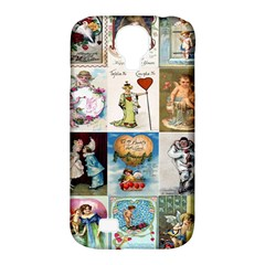 Vintage Valentine Cards Samsung Galaxy S4 Classic Hardshell Case (PC+Silicone)