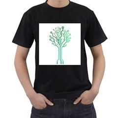 digital tree Mens' Two Sided T-shirt (Black)