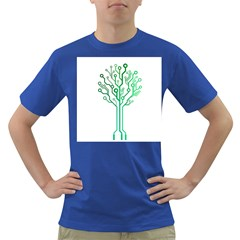 digital tree Mens' T-shirt (Colored)