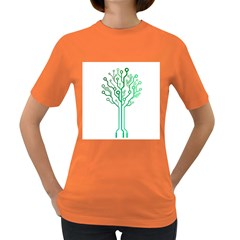 digital tree Womens' T-shirt (Colored)