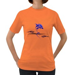 Tribal Dolphin Womens' T-shirt (Colored)