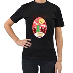 Hello Santa Womens' Two Sided T Shirt (black)