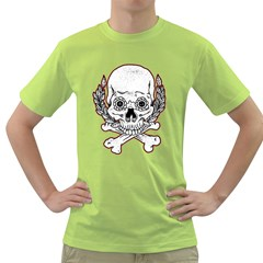 Sugar Skull Mens  T Shirt (green)