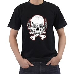 Sugar Skull Mens' Two Sided T-shirt (Black)