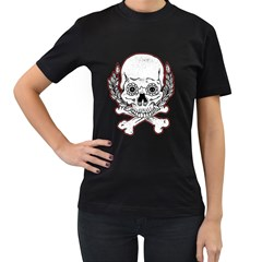 Sugar Skull Womens' T Shirt (black)